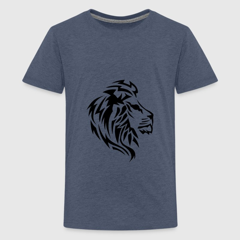 Tribal Tattoo Löwe 14023 T-Shirts - Teenager Premium T-Shirt