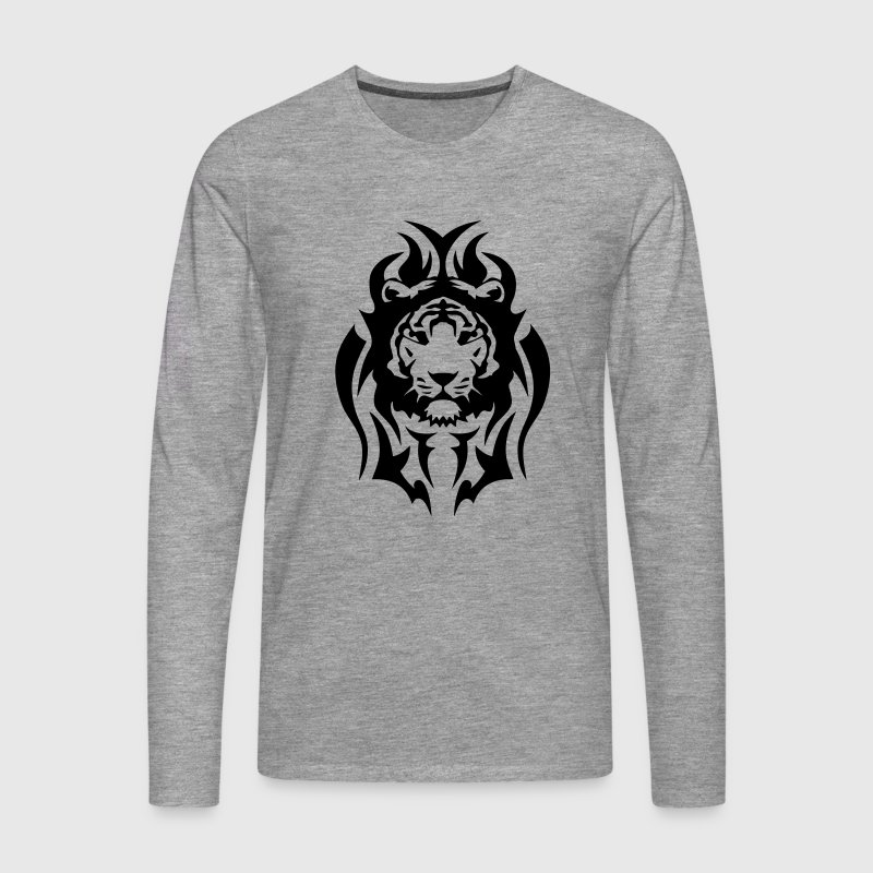 tigre tatouage tribal animal sauvage Tee shirts manches longues - T-shirt manches longues Premium Homme