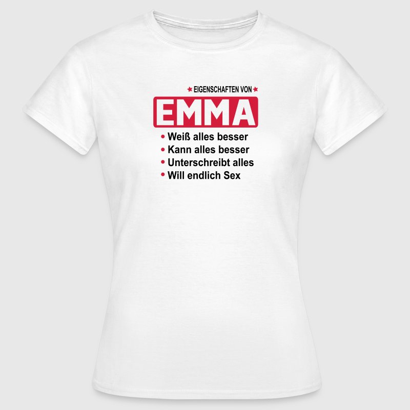 emma T-Shirts - Frauen T-Shirt