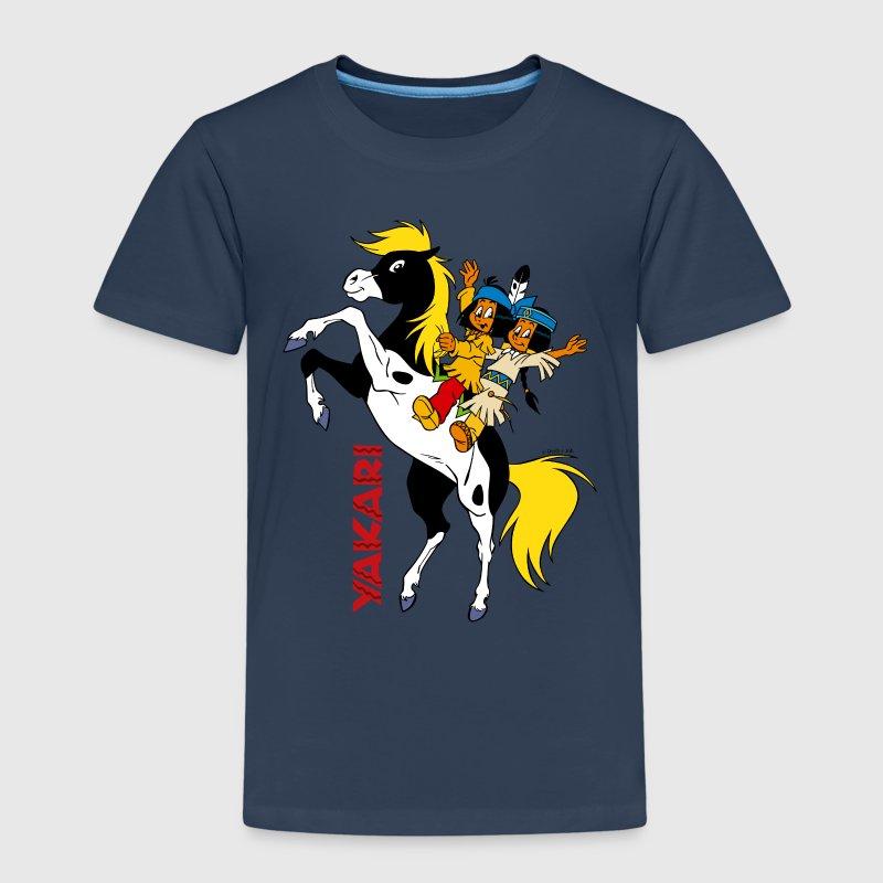 yakari mit regenbogen kinder premium t shirt t shirt. Black Bedroom Furniture Sets. Home Design Ideas