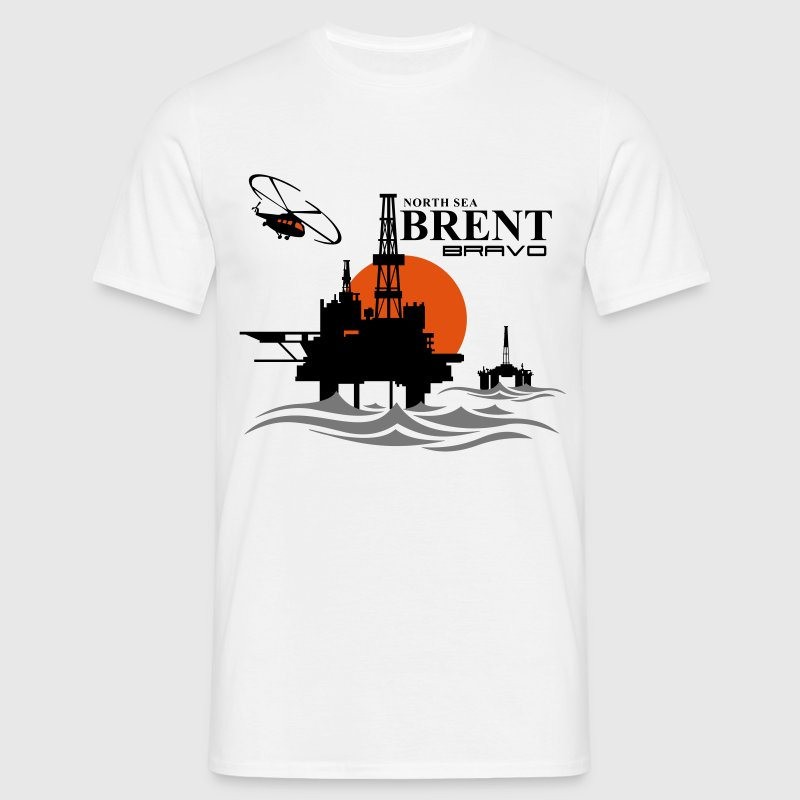 Brent Bravo Oil Rig Platform North Sea Aberdeen - Men's T-Shirt