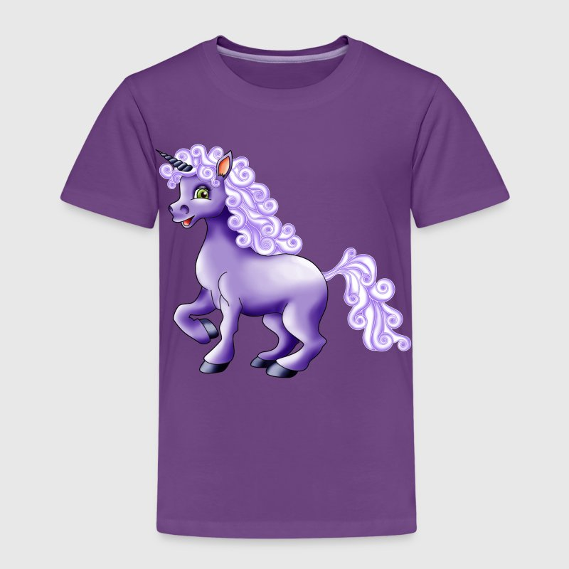 Einhorn in lila - Kinder Premium T-Shirt