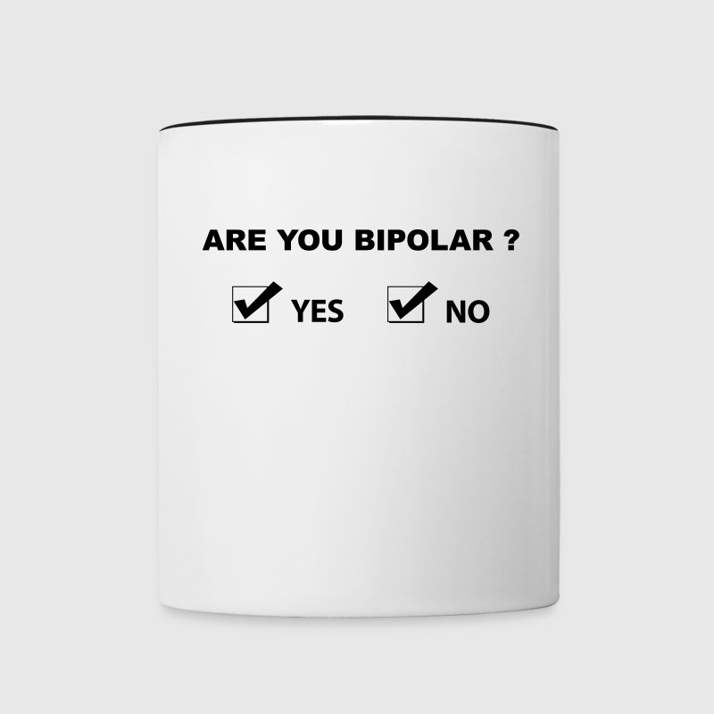 are you pipolar Bouteilles et tasses - Tasse bicolore