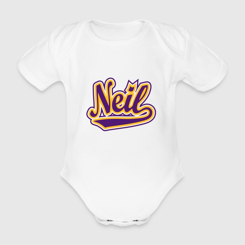 Neil - T-shirt personalised with your name Shirts - Organic Short-sleeved Baby Bodysuit
