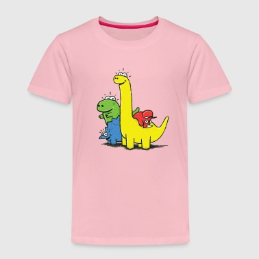Royal blue Dino Gang, Colored Shirts - Kids' Premium T-Shirt