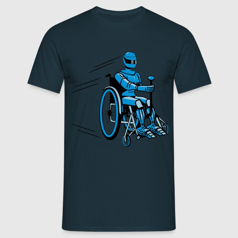 Cool funny robot wheelchair funny T-Shirts - Men's T-Shirt