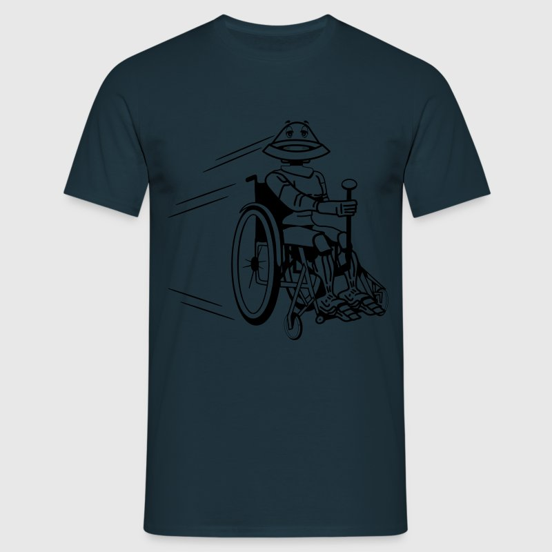 Robot cool tired funny funny wheelchair T-Shirts - Men's T-Shirt