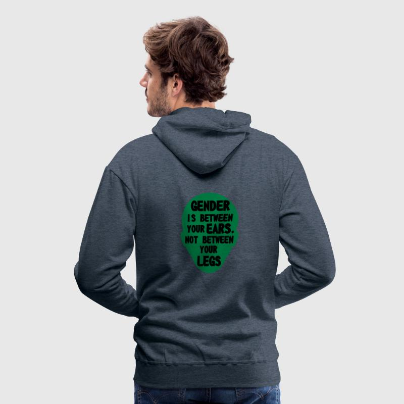 gender is between your ears Hoodies & Sweatshirts - Men's Premium Hoodie