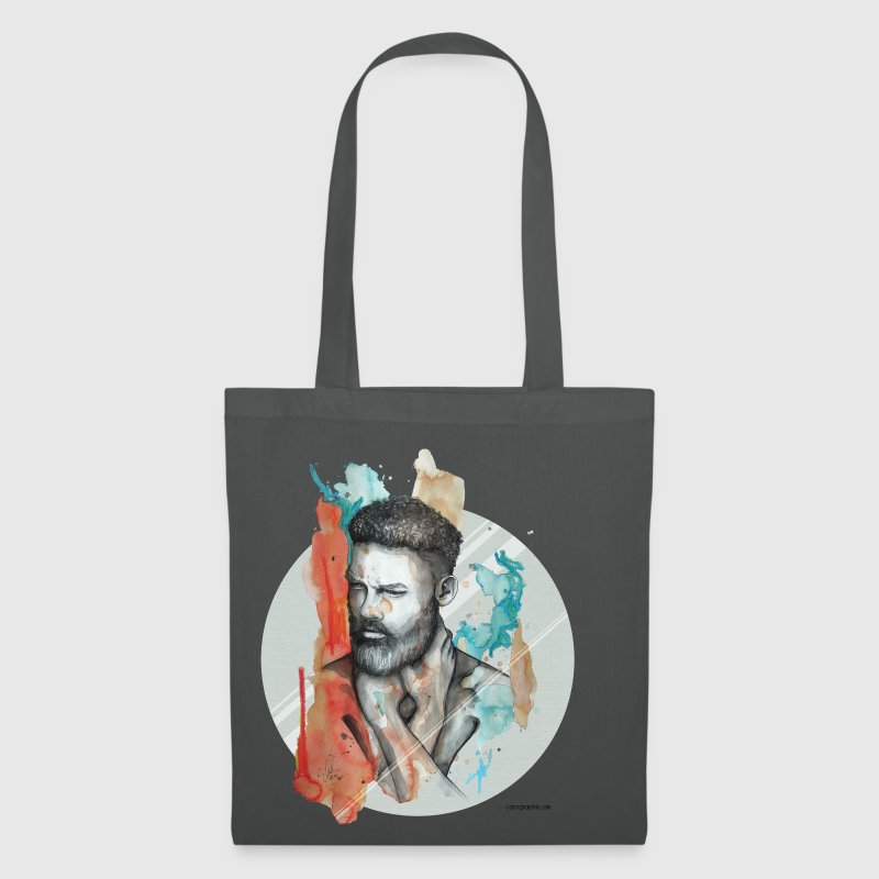 Graphite grey Raphael by carographic Bags & Backpacks - Tote Bag