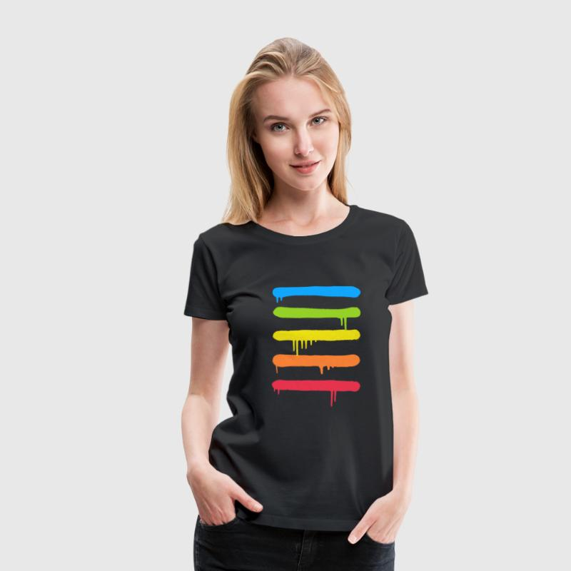 Trendy Cool Graffiti Tag Lines T-shirts - Vrouwen Premium T-shirt