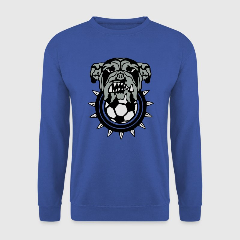 football bulldog chien logo sport feroce Sweat-shirts - Sweat-shirt Homme
