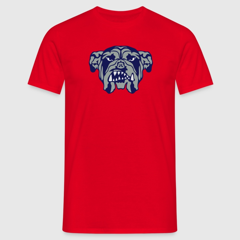 bulldog chien mechant feroce 2101 Tee shirts - T-shirt Homme
