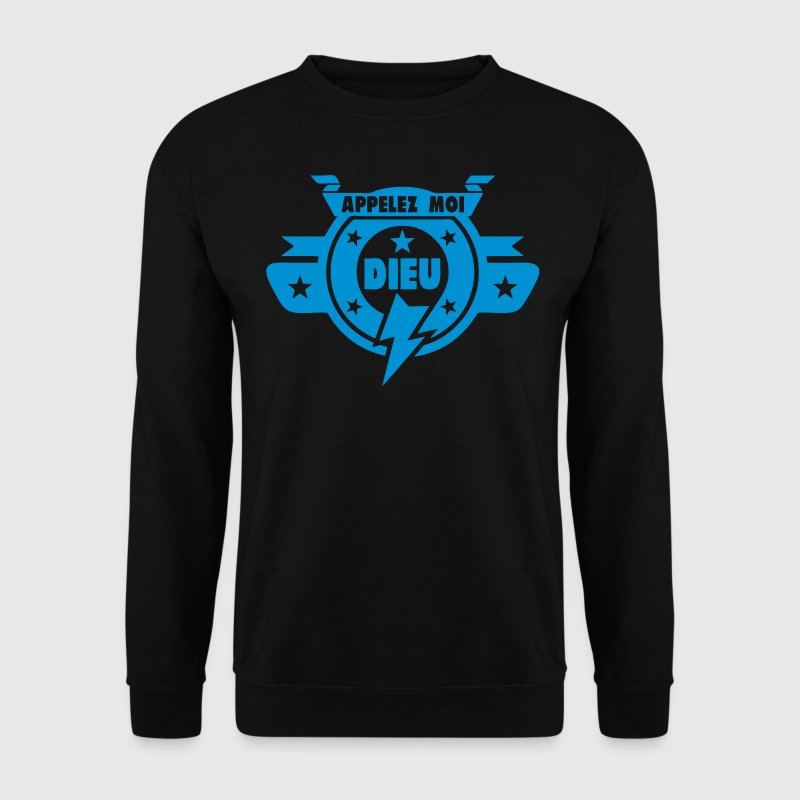 appelez moi dieu logo 0 Sweat-shirts - Sweat-shirt Homme