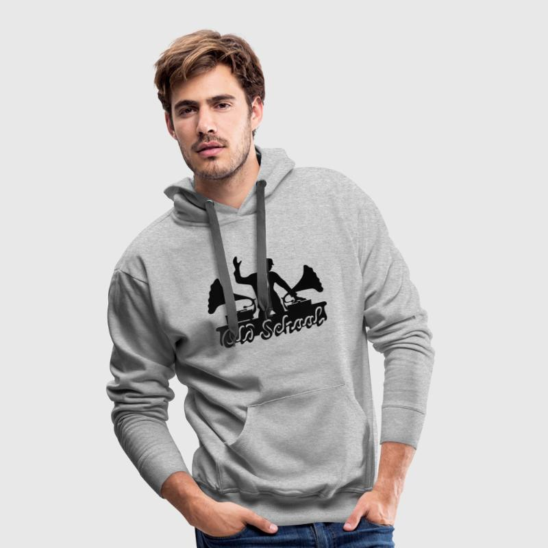DJ Old School, Gramophone, swing, music, dance Sweaters - Mannen Premium hoodie