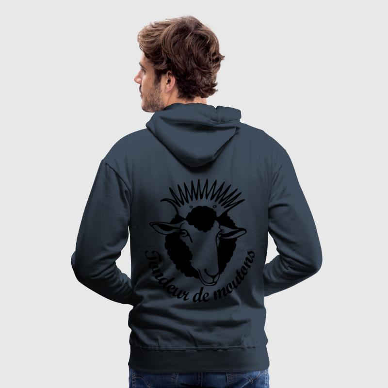 White queen sheep man - Sweat-shirt à capuche Premium pour hommes
