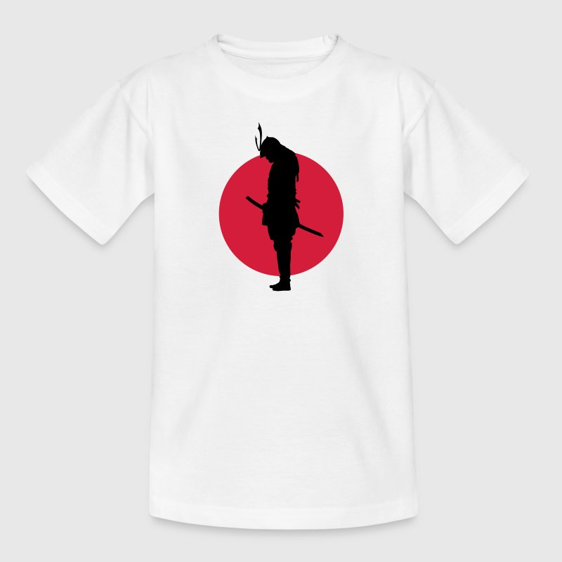 Japan Samurai Warrior (Japan vlag) Shirts - Teenager T-shirt