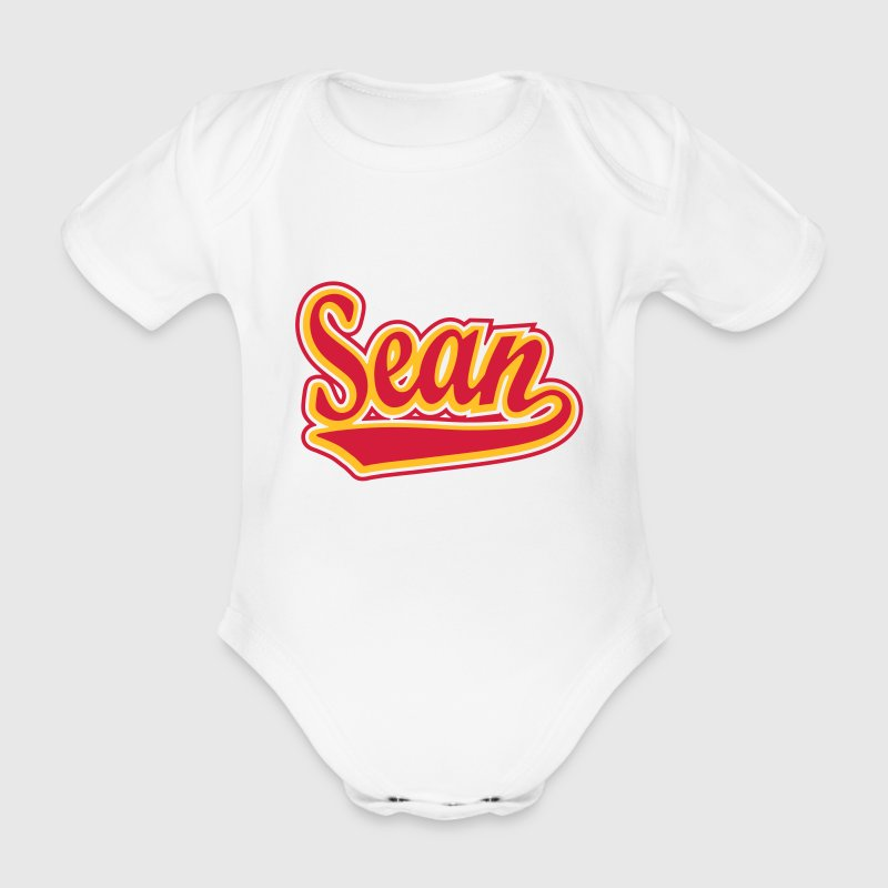 Sean - T-shirt personalised with your name Shirts - Organic Short-sleeved Baby Bodysuit