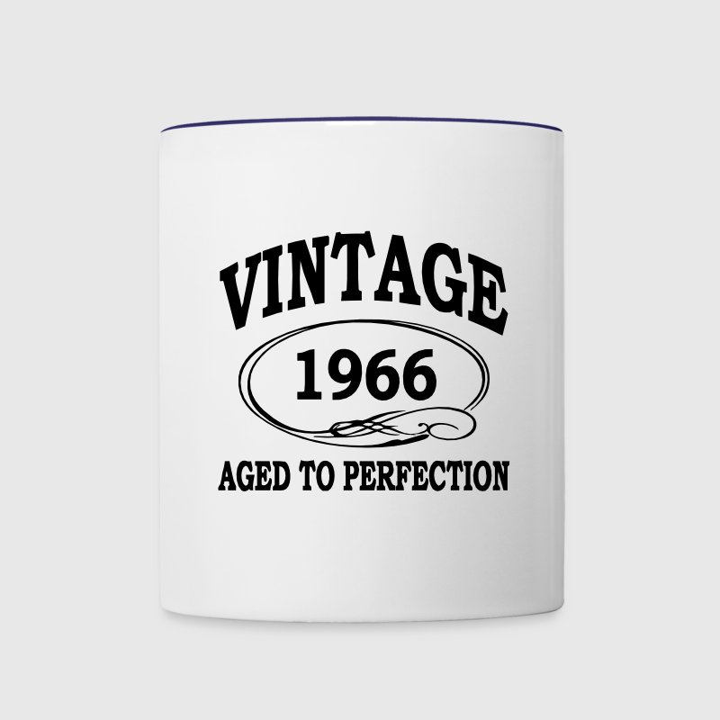 Vintage 1966 Aged To Perfection Bottles & Mugs - Contrasting Mug