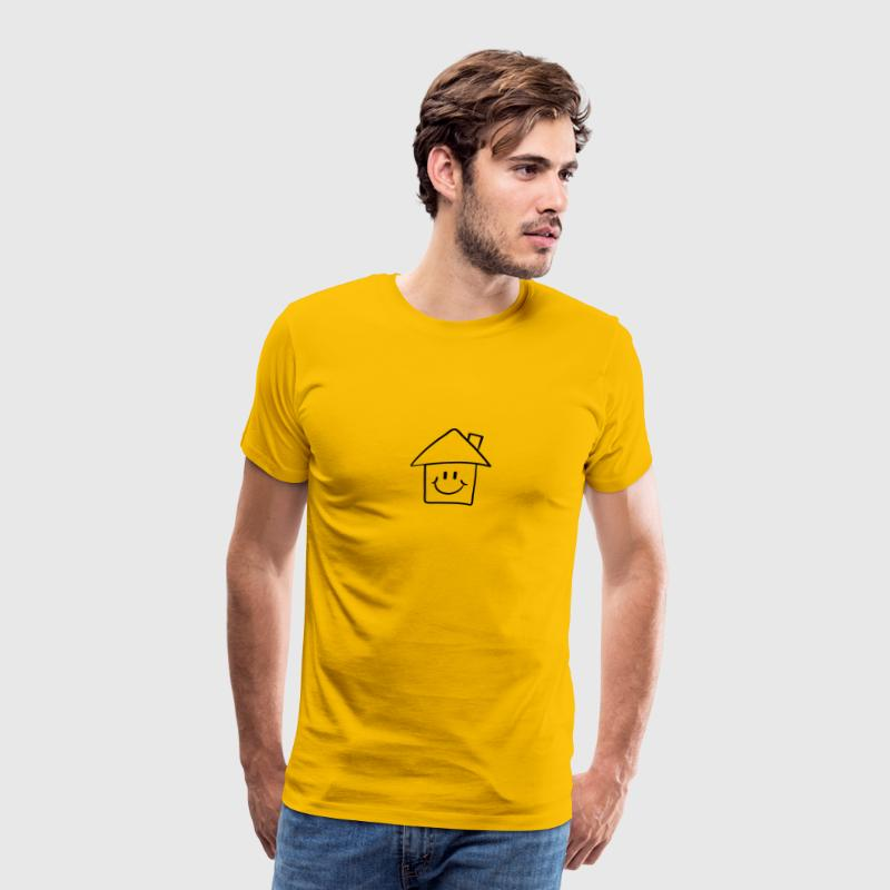 Lustiges Comic Smiley Haus T-Shirts - Männer Premium T-Shirt