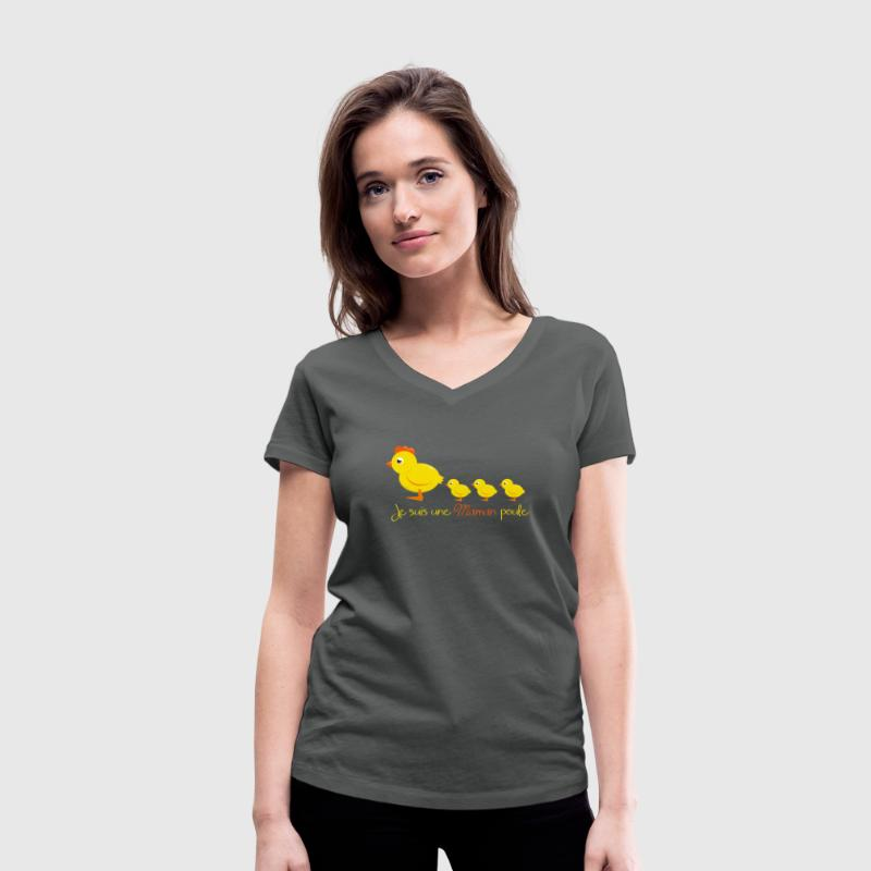 Maman Poule Tee shirts - T-shirt col V Femme