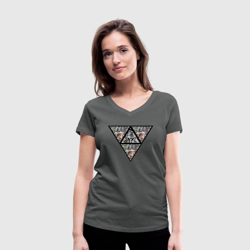 Upside Down Triangle 2 T-Shirts - Women's Organic V-Neck T-Shirt by Stanley & Stella