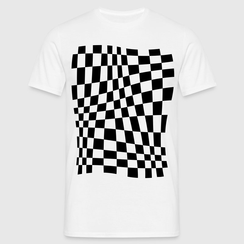 Distorted Grid T-Shirts - Men's T-Shirt