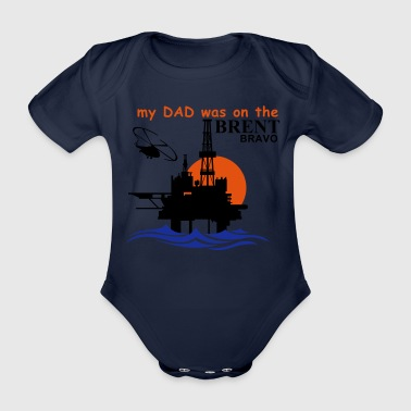 Brent Bravo Oil Rig T Shirt For Kids - Organic Short-sleeved Baby Bodysuit