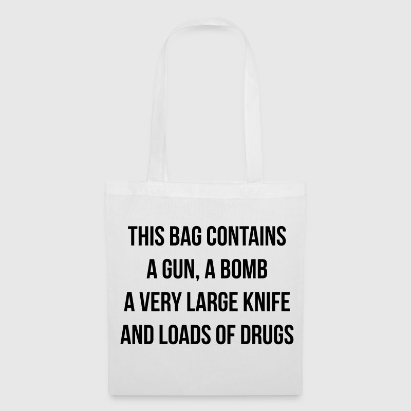 This bag contains a gun Sacs et sacs à dos - Tote Bag