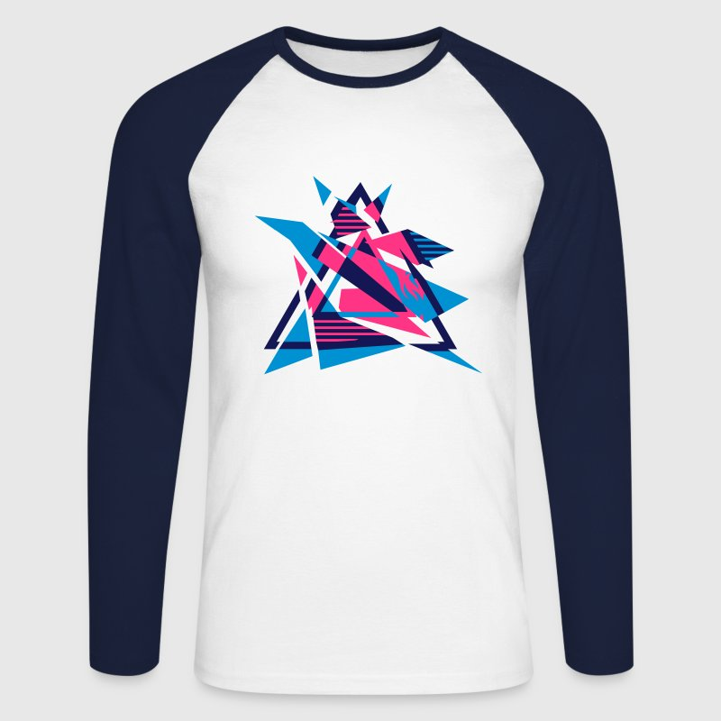 Hipster Triangle Design Long sleeve shirts - Men's Long Sleeve Baseball T-Shirt