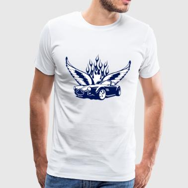 Weiß wings_at_car_ultramarin Tops - Männer Premium T-Shirt