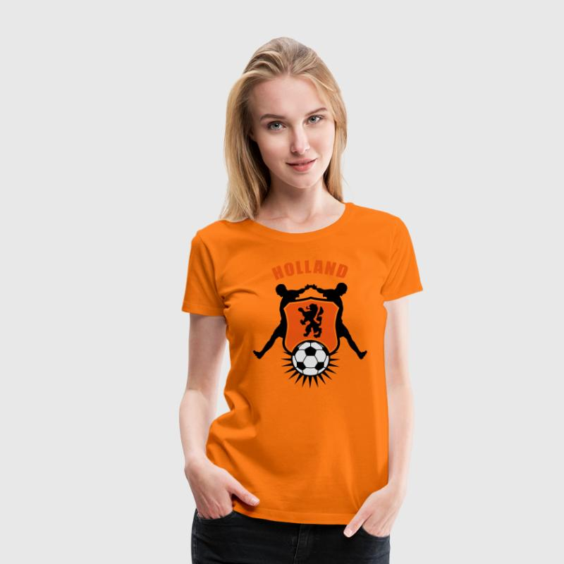 Orange Holland Fussball Wappen T-Shirts - Frauen Premium T-Shirt