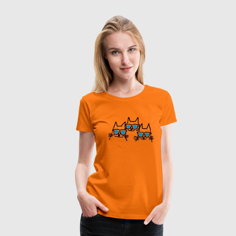 Orange cool cats T-shirts - Premium-T-shirt dam