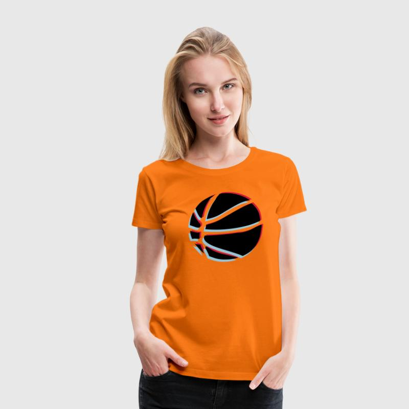 3d t-shirt basket ball - T-shirt Premium Femme