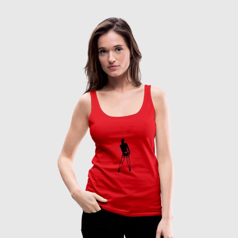 Rot Girl in Strapse Tops - Frauen Premium Tank Top