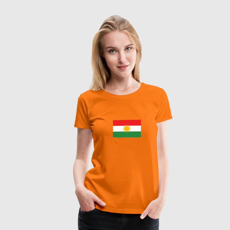 Dutch Orange - Flag of Kurdistan - Women's Premium T-Shirt