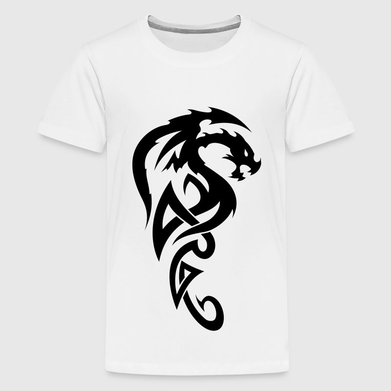 tribal dragon Kids' Shirts - Teenage Premium T-Shirt