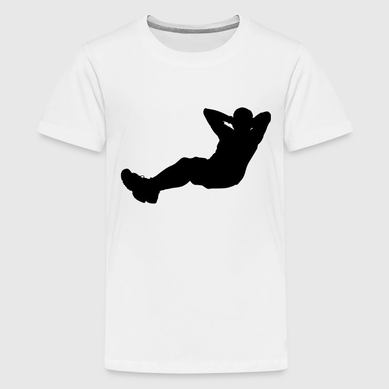 sit up sport Kids' Shirts - Teenage Premium T-Shirt