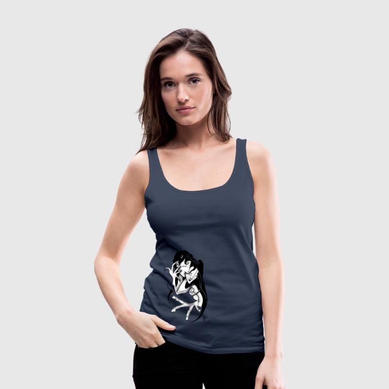 Romantic Lovers Erotic T-shirt - Women's Premium Tank Top