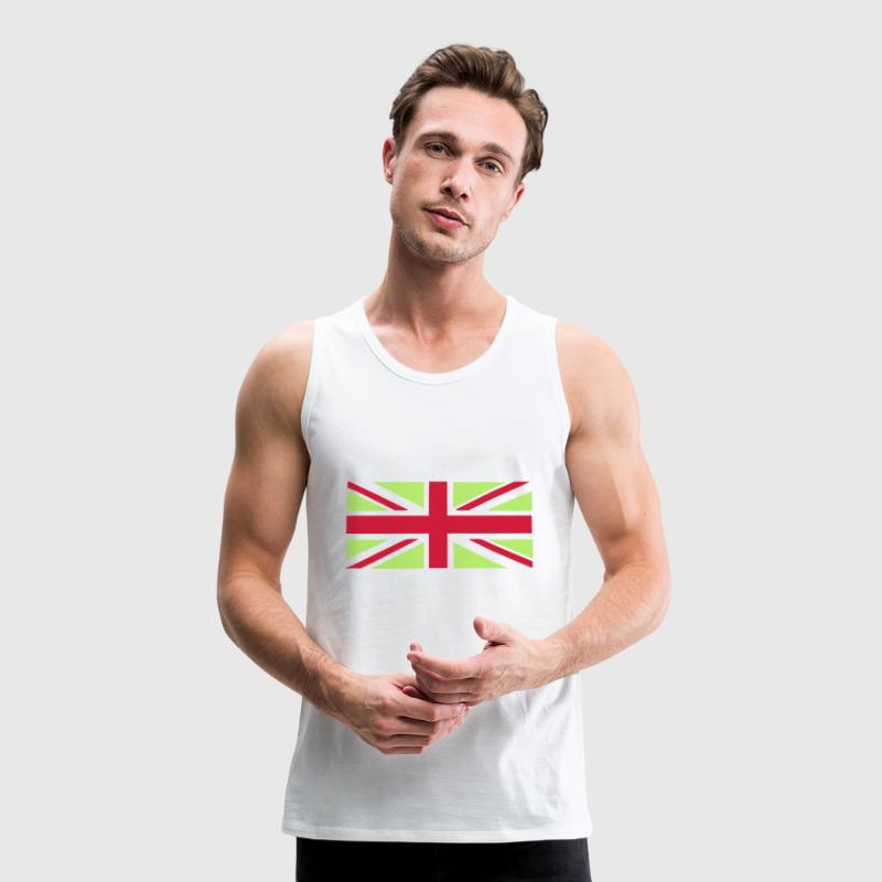 Union Jack - Great Britain - Union flag, versatile 2 colour vector T-Shirts - Men's Premium Tank Top