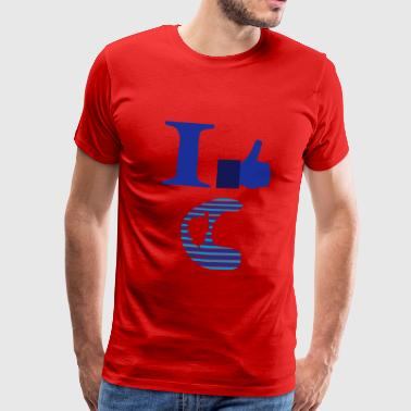 I Love C Corsica Tops - Men's Premium T-Shirt