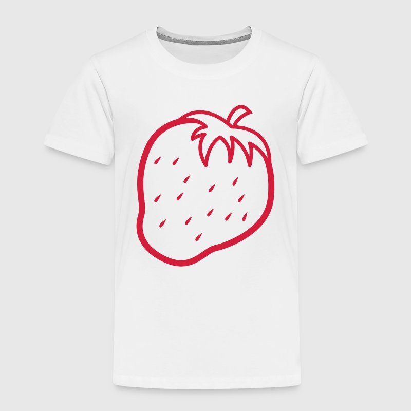 outline of a strawberry cool fruit Shirts - Kids' Premium T-Shirt