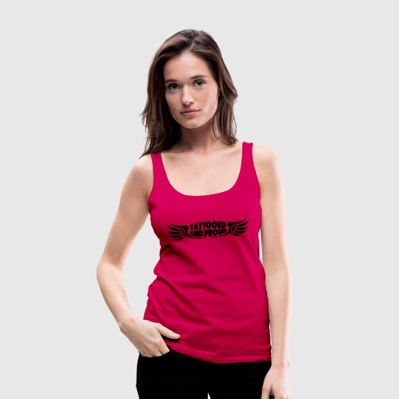 Tattooed And Proud Wings Tops - Women's Premium Tank Top