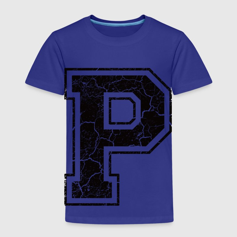 Letter P in the grunge look Kids' Shirts - Kids' Premium T-Shirt