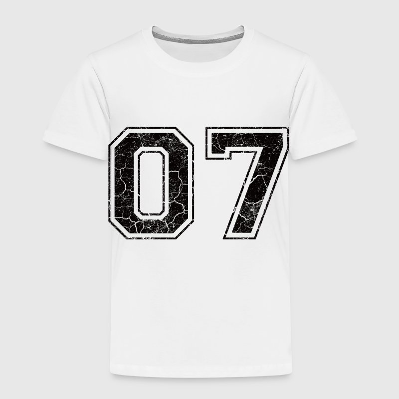 Number 07 in the grunge look Kids' Shirts - Kids' Premium T-Shirt