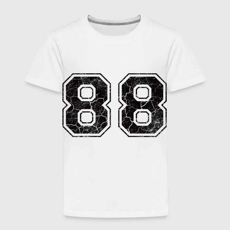 Number 88 in the grunge look Kids' Shirts - Kids' Premium T-Shirt
