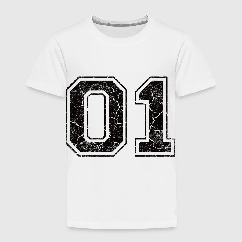 Number 01 in the grunge look Kids' Shirts - Kids' Premium T-Shirt