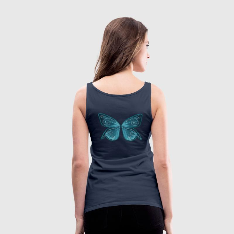 Butterfly wings, fairy, Wonderland, magic Toppe - Dame Premium tanktop