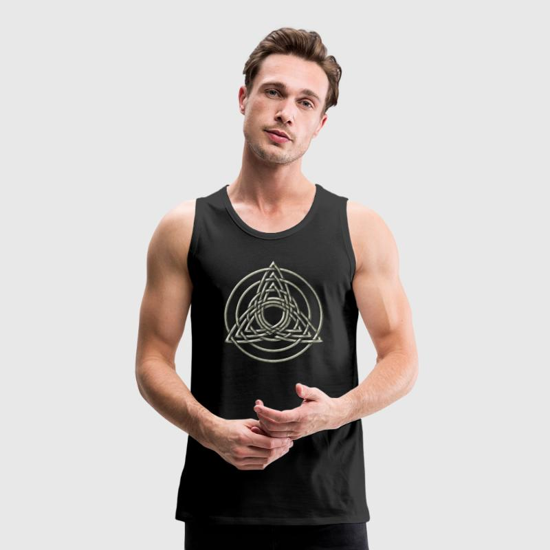 Triple Triquetra, Trinity, Symbol of perfection T-shirts - Herre Premium tanktop