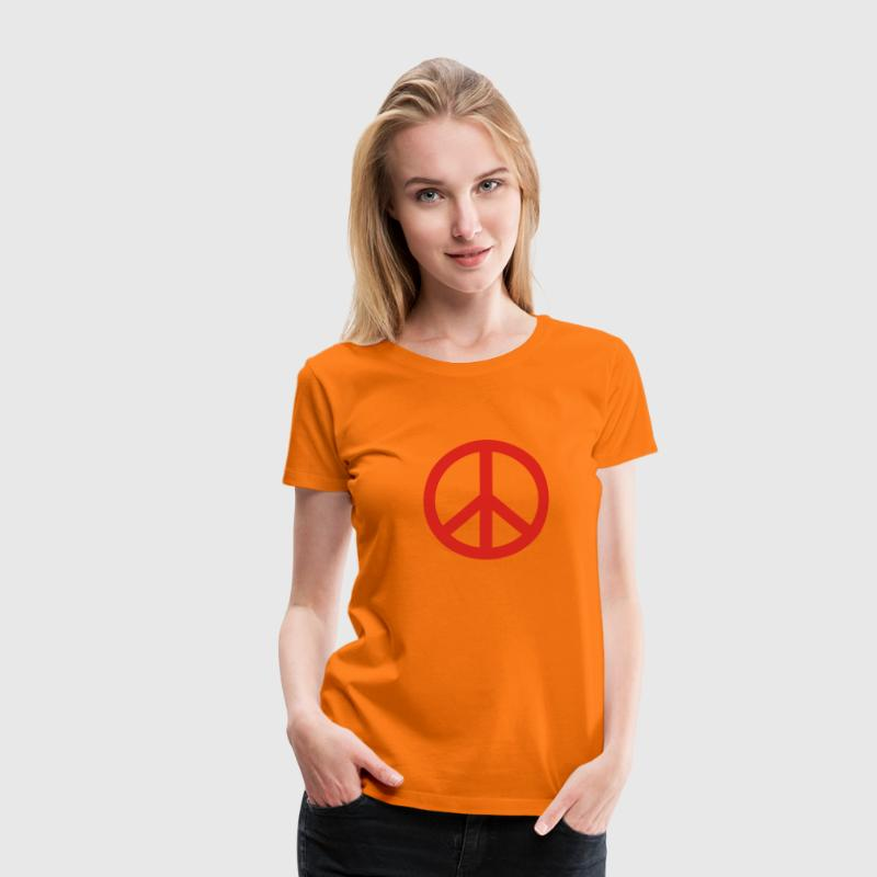 Orange peace zeichen T-Shirts (Kurzarm) - Frauen Premium T-Shirt
