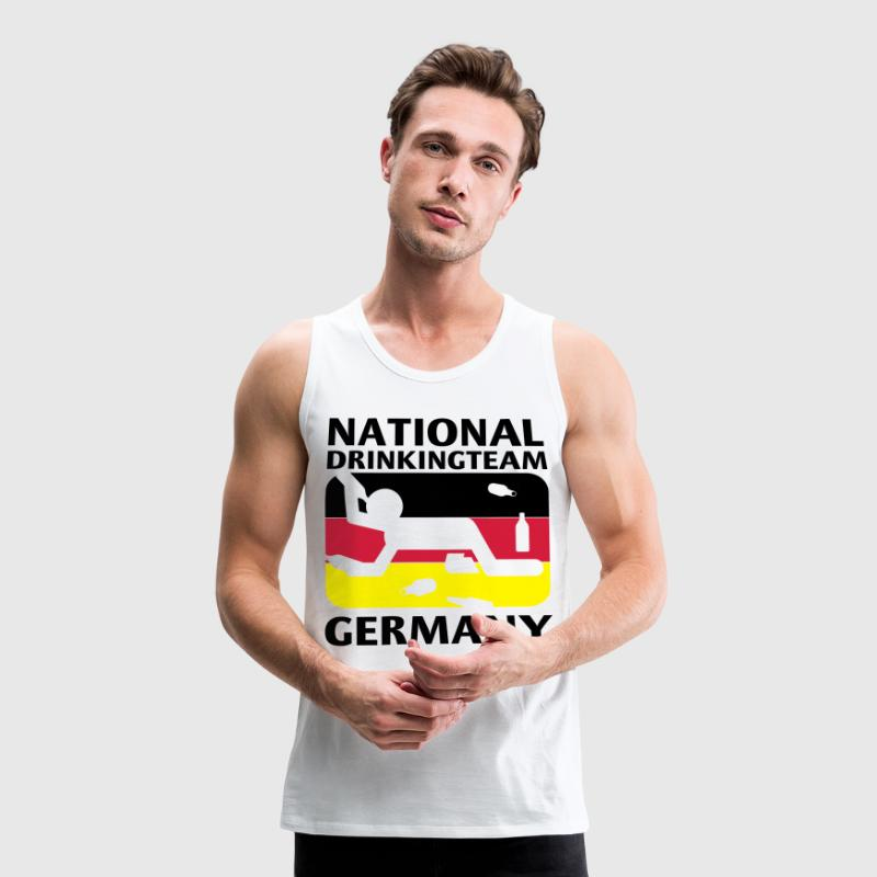 Weiß N.D TEAM GERMANY T-Shirts - Männer Premium Tank Top